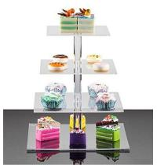 Buy cheap plexiglass wholesale acrylic wedding cake display rack product