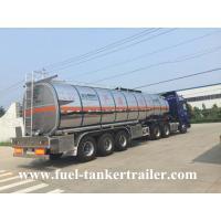 China 3 Axles 40,000 - 60,000 liters petrol tank trailer / fuel tank truck trailer wholesale