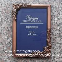 Buy cheap Metal rose photo frame, ready mold, metal photo frame ornated with rose on the frame from wholesalers