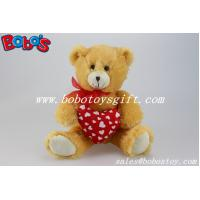 Buy cheap Valentines Day Gifts Plush Teddy Bear With Red Heart Pillow product
