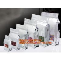 Buy cheap Reusable Stand up Zipper Pouch Aluminum Foil Bags, Square Bottom Coffee Packaging Bags With Valve,Coffee Packaging Bags product