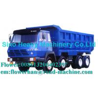 Buy cheap Blue 290hp Unloading Heavy Duty Dump Truck 8 x 4 , 50 Ton Trucks product