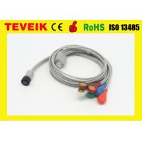 China GE Holter Recorder Medical ECG Cable With Integrated 5 Lead Wires , TPU Material wholesale