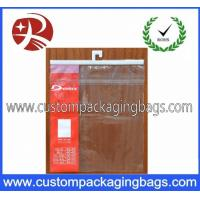 China Garment OPP / CPP Plastic Hanger Bag With Seal Adhesive For Clothing on sale