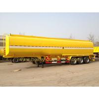 Buy cheap 45 M3 Three Axles Oil Tank Small Semi Trailer Truck Yellow And White Color product