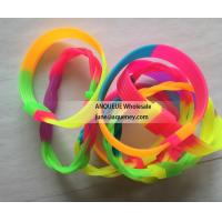 Buy cheap Cheap rainbow bracelet silicone wristbands, braid silicone wristband product