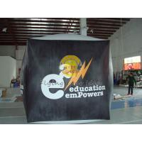 Reusable durable PVC cube balloon with Full digital printing for Opening event