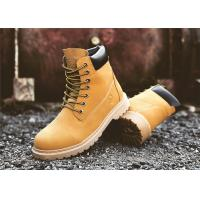 Buy cheap High Cut Yellow Work Safety Shoes Mens Safety Work Boots Cowhide Leather Upper product