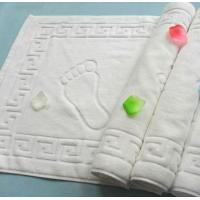 China terry cloth white cotton hotel bath floor mat, bath foot towel,50*80cm bathroom floor towel on sale
