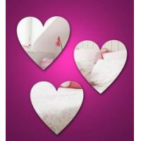 Quality Heart Shape Cosmetic Acrylic Mirror Sheets With High Quality for sale
