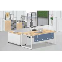 Buy cheap Full set Wood Office Desk  one staff use five angle steel tube leg for office furniture product