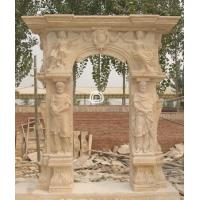 Buy cheap Golden Bay Mantel Sculpture Marble stone Fireplace product