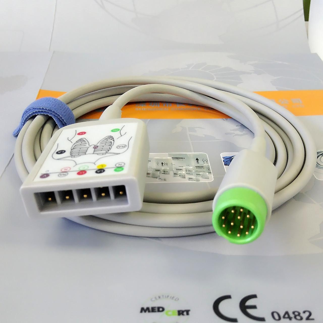 Buy cheap Compatible ECG Monitor Cable , Hospital Accessories Products ECG Trunk cable 12 pins product