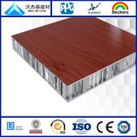 China 20mm Wood grain aluminum honeycomb panel for curtain wall on sale