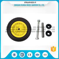 Buy cheap Yellow Color Inflatable Caster Wheels Plastic Bush Bearing Stright Vales 6PR product