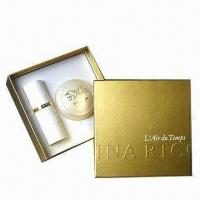 Buy cheap Cosmetic Gift Box, Made of PU Leather, Greyboard and Mirror product