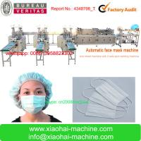 China NO LABOR Full Automatic face mask making machine join earloop and tie on the same machine on sale