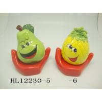 Buy cheap Funny Ceramic Piggy Bank Money Box Fruit And Vegetable Shaped With Base product