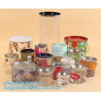 Buy cheap OEM ODM Accepted 680ml Plastic PET Clear Round Can For Mint Storage,Clear 1 gallon PET paint can & lid with metal handle product
