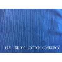 Buy cheap 14W INDIGO COTTON CORDUROY FOR PANTS LIKE DEMIN FABRIC product