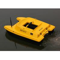 Buy cheap Yellow rc fishing bait boat remote frequency 2.4G two engines Structure DEVC-303 product