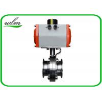 China Hygienic Grade Sanitary Tri Clamp Butterfly Valve Compact Configuration , Large Size 1 - 8 on sale