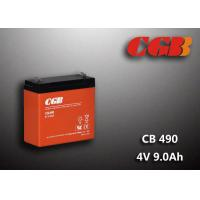 Buy cheap 1.12KG Sealed Lead Acid Battery 4V 9Ah CB490 Series ABS Plastic V0 Battery product