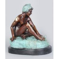 antique bronze nude sculpture/bronze figurine TPX-0743