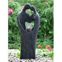 China Cement Material Indoor Water Features Fountains In Kiss Lover Shape wholesale