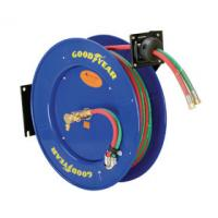 Buy cheap Goodyear Dual Hose Compressed Welding Hose Reel Heavy-Duty Steel Construction product