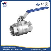 Buy cheap High quality 2 pcs female thread flat lever handle cf8m stainless steel ball valve product