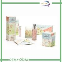China  Customized Luxury Cosmetic Gift Box PMS / CMYK 350G Coated Paper  for sale
