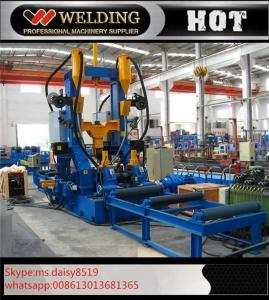 Quality Soldadura do conjunto que endireita a linha de soldadura 3 do feixe de H em 1 eficiência elevada para industrial for sale