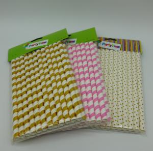 Buy cheap Food Grade Safe Paper Drinking Straws BPA Free Harmless Wedding Birthday product