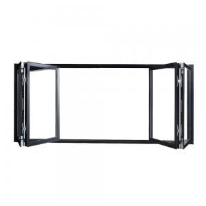 Buy cheap Anodized Color Frame Aluminum Folding Windows , Vertical Bifold Windows product