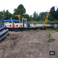 Buy cheap 20 Inch Sand Mining Machinery 25m Gold Mining Dredger Pond Dredging Equipment product