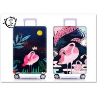 Buy cheap Cartoon Animal Flamingo Suitcase Covers Custom Digital Printed Luggage Protector Cover product