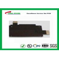 Buy cheap Black Solder Mask Flexible PCB Manufacturing for Mobile Phone , 1mil PI Material product