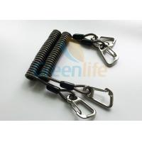 Buy cheap High Security Steel Reinforced 125MM Long Black Plastic Stertch Coiled Bungee Cable product