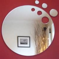 China Laser Cutting Round Mirror Acrylic Sheet For Wall Decoration With Home Decoration on sale