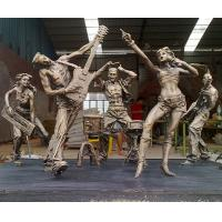 Buy cheap city square band sculpture,bronze band sculpture product