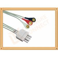 White 3 Leads Nihon Kohden Ecg Cable ECG Lead Wires Cable 0.8M
