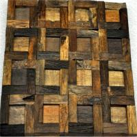 Quality Handmade Reclaimed Wood Wall Panels Natural Pattern For Coffee Shop / Bar for sale