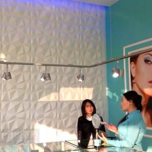 Buy cheap 3dboard wall decor panels 500*500 fiber eco wave panels with original colcor Diamond product