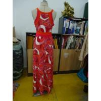 Quality Beautiful Womens Summer Maxi Dresses Single Jersey Maxi Dress Coral Abstract for sale