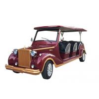 Buy cheap 8 Seats Electric Sightseeing Car Shuttle Bus Rail Traction Motor 800kg Weight product
