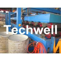 Buy cheap Rock Wool Insulated Sandwich Panel Cold Roll Forming Machine 0 - 4.05 m / Min Speed product
