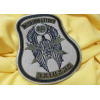 Buy cheap Custom Flag 3D Born To Be Mild Logo Embroidered Neck Patch Reusable product