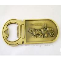 China Antique brass embossed design metal bottle opener, zinc alloy, China factory, on sale
