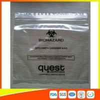 Buy cheap Industrial Reclosable Plastic Specimen Bags , Packaging Zip Lock Bags FDA Approved product